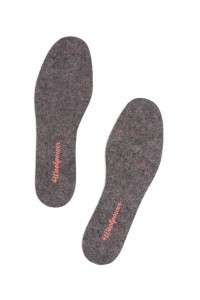 WOOLPOWER Schuheinlagen - FELT INSOLSES RECYCLE - Grey